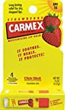 Carmex - Lip Moisturizing Click-Stick with Sunscreen SPF 15 Strawberry Flavor Balm - Lippen Pflegestift