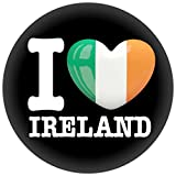 Button / Badge / Pin -- I Love Irland Fahne Flagge (I Love Ireland)