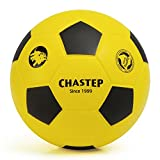Chastep Normal 20cm Foam Ball Indoor/outdoor Football Soccer Perfect for Kids or Beginner Play and Excercise Soft Kick & Safe (Gelb/Schwarz)