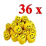 36er Pack Jonglierbälle Smiley