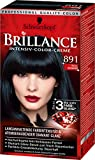 Brillance Intensiv-Color-Creme 891 Blau-Schwarz, 3er Pack (3 x 143 ml)