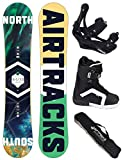 AIRTRACKS SNOWBOARD SET - BOARD NORTH SOUTH 156 - SOFTBINDUNG SAVAGE - SOFTBOOTS STRONG 43 - SB BAG