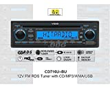 VDO 12 Volt PKW Auto Radio, RDS-Tuner, CD, MP3, WMA, USB, 12V CD716U-BU