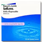 Bausch & Lomb SofLens daily disposable Tageslinsen weich, 90 Stück / BC 8.60 mm / DIA 14.20 mm / -01.75 Dioptrien