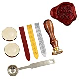 Stamp Seal Dichtung Wachs Retro, klassische, NetBoat Antik Wachs-Siegel-Stempel Kit Set mit Gold Rot Silber haftet kreative Stempelproduktion Suite (For You)