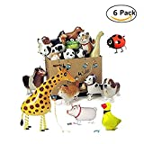 Walking Pet Ballons Pack von 6 Party Tier Folie Ballons Dekoration Ballons