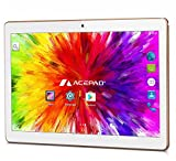 ACEPAD A96 10 Zoll (9.6') Tablet PC 3G (Dual-SIM) 48GB Android 7.0 Nougat IPS HD 1280x800 Quad Core WIFI WLAN USB SD (Weiß)