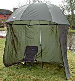 98' 2.5m BISON TOP TILT UMBRELLA BROLLY FISHING SHELTER WITH ZIP ON SIDES