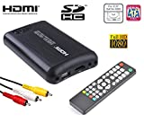 'Mediacenter Box Multimedia Festplatte 2,5 SATA HDMI Full-HD MKV host-usb SD RCA Haus Auto 12 V 220 V