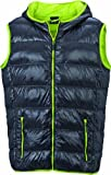 James & Nicholson Herren Jacke Daunenweste Men's Down Vest grau (carbon/acid-yellow) Large