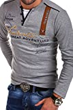 MT Styles 2in1 Longsleeve ADVENTURE T-Shirt R-0663 [Grau, 4XL]