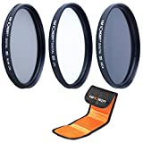 K&F Concept® UV CPL ND4 Filterset,62mm Objektiv Filterset,Filter Canon,Filter Nikon,Filterset 62mm,UV Filter 62mm,Slim UV,CPL Filterset 62mm,Polfilter 62mm,ND4 Filter,Graufilter 62mm mit Reinigungsstift und Filtertasche