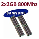 Dual Channel Kit SAMSUNG 2 x 2 GB = 4GB 240 pin DDR2-800 DIMM (800Mhz, PC2-6400) M378T5663QZ3-CF7 double side für DDR2 Computersysteme