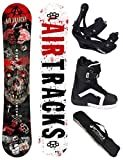 AIRTRACKS SNOWBOARD SET - BOARD AIR ANARCHY 159 - SOFTBINDUNG SAVAGE - SOFTBOOTS STRONG 43 - SB BAG