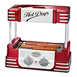 Nostalgia Hot-Dog Grill Roller Retro Hot Dog Maschine mit Grillblech