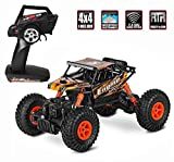 RC Rock Crawler Autos, Fernbedienung 4WD Autos 2,4 GHz 1:18 Radio Fernbedienung High Speed Racing Auto 4x4 Off-Road Wasserdichte LKW Elektrische Radio