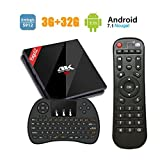 EstgoSZ TV BOX 3GB RAM + 32GB ROM Android 7.1 mit Amlogic 912 Octa-Core 64 Bits Smart BOX H.265 4K Ultra HD Bluetooth 4.1 Dual WiFi 2.4GHz / 5GHz mit Klein Kabellose Tastatur