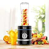 Doctor Hetzner 300W Personal Mixer High-Speed Smoothies Maker Saft Mixer mit einer 20oz / 600ml Tragbare Sportflasche BPA-freie Tritan Take-along Jar (Black)