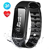 OMorc Fitness Tracker, Weloop Now 2 Bluetooth Herzfrequenz Fitness Armband IP68 Wasserdicht Sport Armband smart bracelet Smartwatch –Schwarz