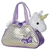 Aurora World 32600 - Fancy Pal Einhorn in glitzernden Tasche, 20.5 cm, lila