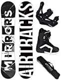 AIRTRACKS SNOWBOARD SET - WIDE BOARD MIRRORS WIDE 157 - SOFTBINDUNG SAVAGE - SOFTBOOTS SAVAGE QL 46 - SB BAG