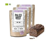 Organic Workout PALEO-BROT-BACKMISCHUNG 3er Pack | 100% Bio | gluten-frei | low-carb | Eiweiss-Brot | clean-eating | Fitness-Brot | hefefrei | ohne Getreide | hergestellt in Deutschland