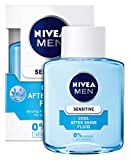 Nivea Men Sensitive Cool After Shave Fluid für Männer (0% Alkohol), 3er Pack (3x 100 ml)