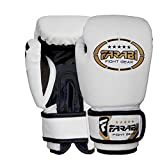 Farabi Kids Boxing Gloves Synthetic Leather for Training Punching Sparring Combat Fitness Gym Workout (White, 4oz)