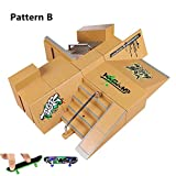 Fingerboard Rampen, 8PCS Skatepark Kit für Tech Deck Mini DIY Finger Skateboard Parks Ultimate Sport Training Stützen Spielzeug von AumoToo (Muster B)