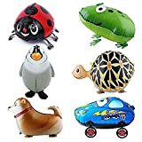 Ballon - SODIAL(R)6pcs Kind Party Tier Ballon- inklusive Pinguin, Shepherd,Kaefer,klein Auto,Frosch,Schildkroete