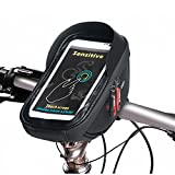 Fahrrad Lenkertasche Fahrradtasche Rahmentasche Handyhalterung Navigationshalterung Wasserdicht Groß 6.0 Inches Sensitive Touch-Screen Schwarz