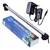 Tingkam 48CM 57LED Weiß Wasserdicht IP68 Fische Licht Aquarium Light Aquariumleuchte Unterwasser