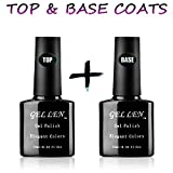 Gellen Top Coat und Base Coat UV /LED Lampe Unterlack(10ml) & Überlack(10ml)