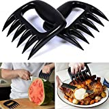 K&C Pulled Pork Shredder Claws BBQ Grilling Accessories Claw Handler Set for Pulling Brisket Meat Handler Forks 2 Pcs