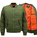YYZYY Herren Herbst Winter Dick Warm Militär Bomberjacke Air Force Patches Leichte Bomber Jacken Mäntel Mens Light Jacket Coat Parka XS-6XL (EU/DE Medium, Schwarz)