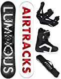 AIRTRACKS SNOWBOARD SET - BOARD LUMINOUS WIDE 159 - SOFTBINDUNG SAVAGE - SOFTBOOTS SAVAGE QL 43 - SB BAG
