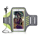 Zeonetak Sports Armband Wasserdicht Atmungsaktiv Verstellbar Klett Kopfhörer Halter iPhone8plus,iPhoneX,iPhone7s plus,iPhone 6plus,Galaxy s8 plus,Samsung Galaxy S5 S6 S7 die Meisten Anderen Handys