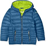 CMP Jungen Isolationsjacke Jacke, Denim/Lime Green, 152
