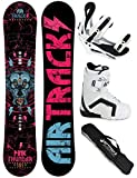 AIRTRACKS DAMEN SNOWBOARD SET - BOARD PINK THUNDER 156 - SOFTBINDUNG SAVAGE W - SOFTBOOTS STRONG W 38 - SB BAG