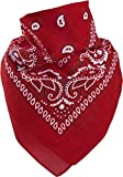 Harrys-Collection Bandana Bindetuch 100% Baumwolle 1 er 6 er oder 12 er Pack!, Farbe:rot