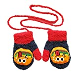kimberleystore 1 Paar Cute Unisex Winter Baby Cartoon Coral Fleece Handschuhe (Grimace)