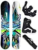 AIRTRACKS SNOWBOARD SET - WIDE BOARD PLACES 156 - SOFTBINDUNG SAVAGE - SOFTBOOTS STRONG 43 - SB BAG