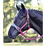 Busse Halfter FLEECE, Warmblut, passion pink (silver grey)