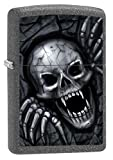 Zippo 211 60002469 PL Skull Clawing out Benzinfeuerzeug, Messing, iron stone, 1 x 3,5 x 5,5 cm