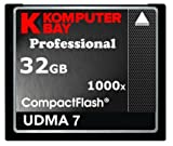 Komputerbay 32GB COMPACT FLASH CARD Professionelle CF 1000X 150MB/s Extreme Speed ​​UDMA 7 RAW 32 GB