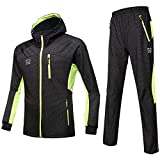Herren Fleece Thermal Winter-Lang-H¨¹lse Professionelle Fahrradbekleidung Sets Volle Zipper Windbreaker Mantel und Hosen Yellow Fly16 XXL