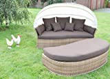 Sonneninsel Venus Lounge Mixed Beige Flachgeflecht