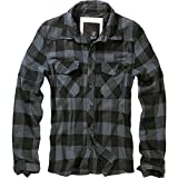 BRANDIT Check Shirt Black-Grey M