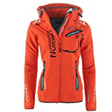Geographical Norway Damen Softshell Funktions Outdoor Regen Jacke Sport [GeNo-24-Schwarz-Gr.S]
