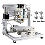 Beautystar CNC DIY Router Machine CNC Engraving Machine, Working Area 130*100*40mm, PCB Milling Machine CNC Wood Carving Mini Engraving Router PVC